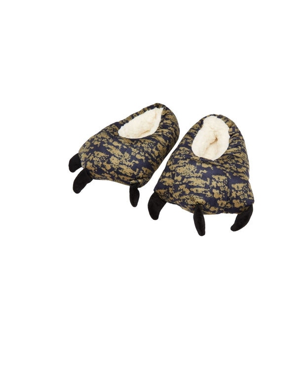 joules clawsome monster claw slippers medium khaki