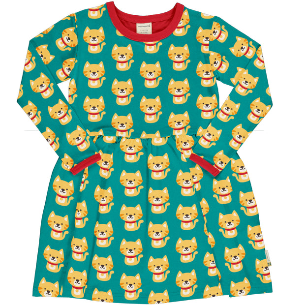 Maxomorra Long Sleeve Spin Dress - Cat