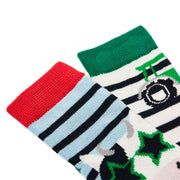 Joules Neat Feet Two Pack Character Baby Socks - Multi Tractor Cow