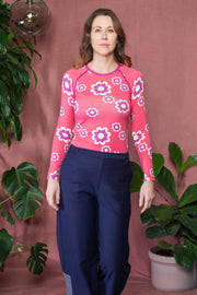 Alba Of Denmark - AIA My All Time Favourite Long Sleeve Adult Top - Sun Kissed Flower Heaven