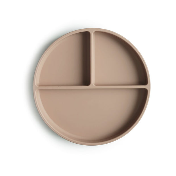 Mushie Silicone Plate - Natural