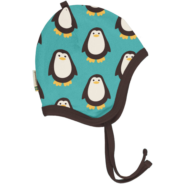 Maxomorra Velour Helmet Hat - Penguin