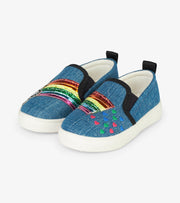 hatley kids slip on sneaker over the rainbow