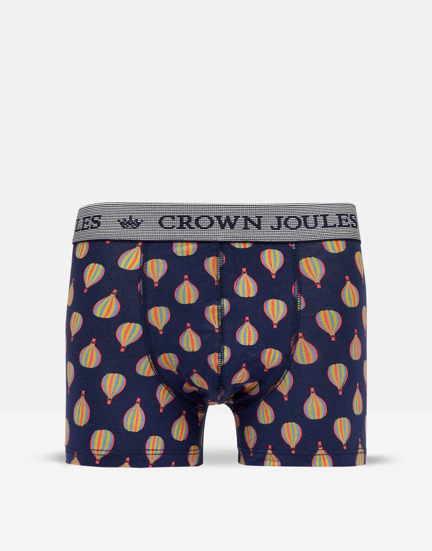 Joules Men's Put A Sock In It Sock & Boxer Gift Set - Blue Air Balloons