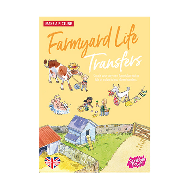 scribble down activity transfer pack farmyard life