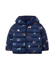 Joules Jessie Printed Padded Coat - Navy Animals