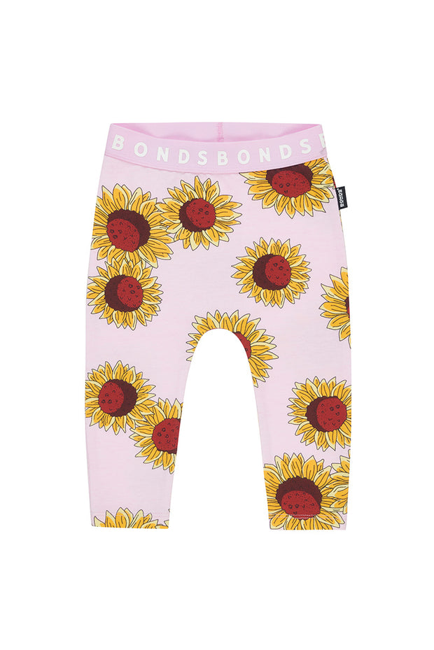 Bonds Stretchies Leggings - Sunflower Pink