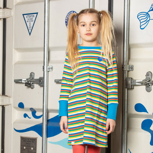 Alba of Denmark Everyday School Dress - Tivoli Fun Stripes