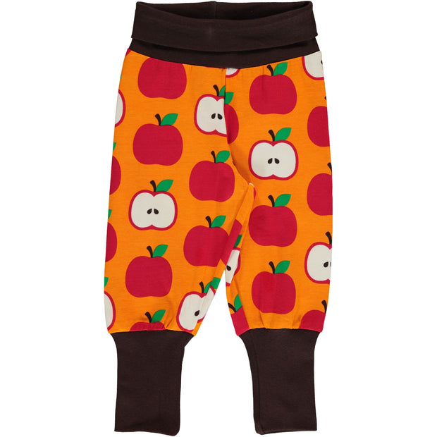 Maxomorra Rib Pants - Classic Apple