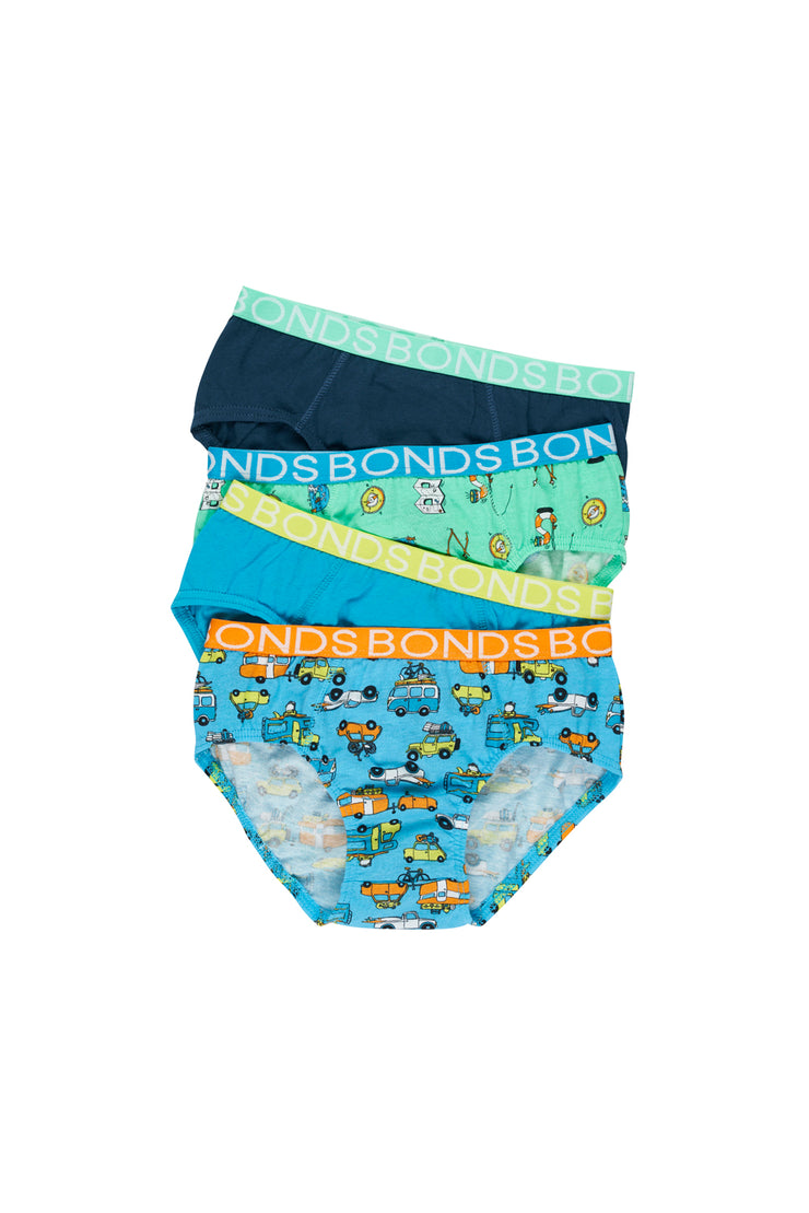 Bonds 4 Pack Pants - Holiday Highway