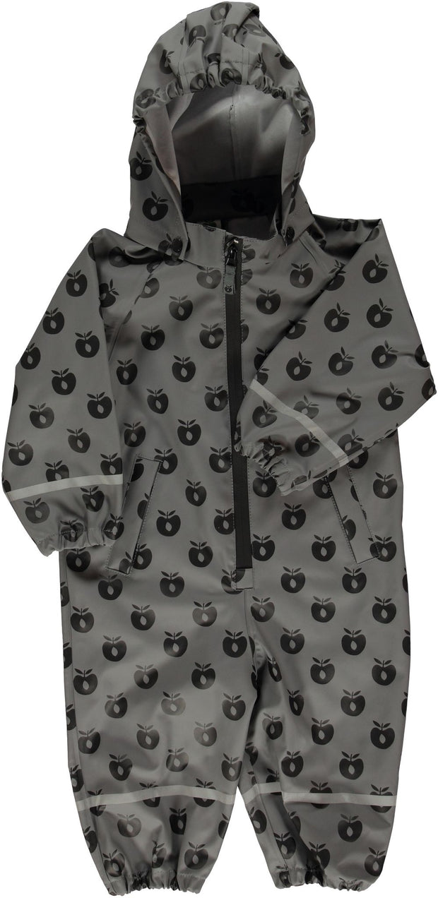 Smafolk Zip Rainsuit - Dove Grey Apple