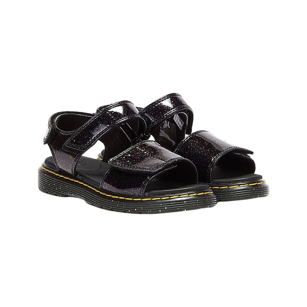 Dr. Martens Junior Romi Cosmic Glitter Purple Sandals