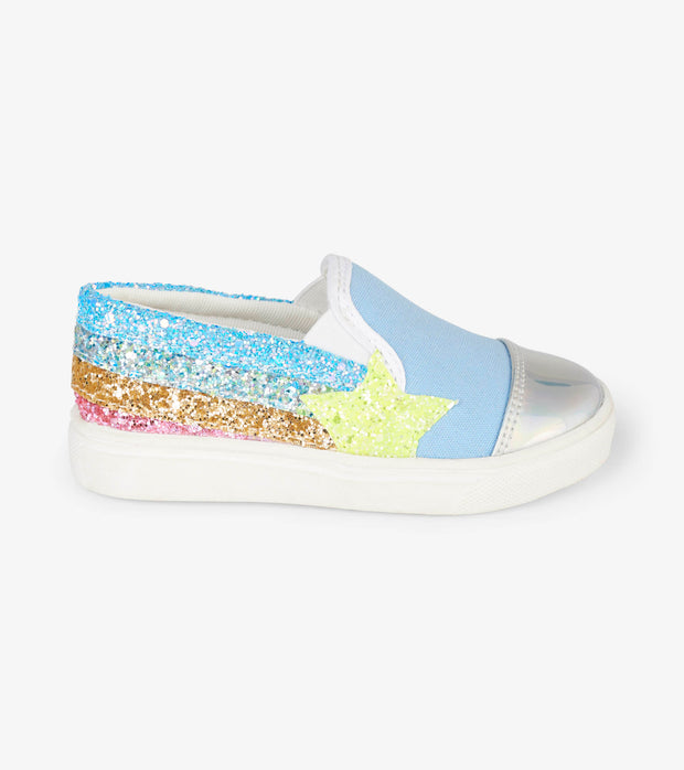 hatley kids slip on sneaker shooting star