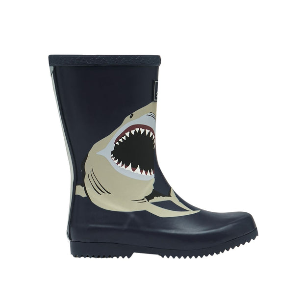Joules Roll Up Wellies - Navy Sharks