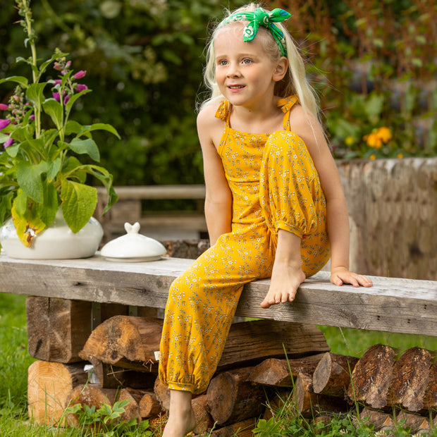 Alba Of Denmark Flower Liberty Jumpsuit - Old Gold Liberty Love