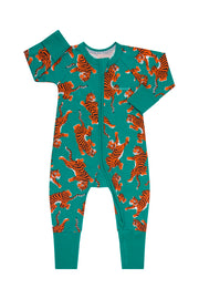 Bonds Zip Wondersuit - Climbing Tigers Green