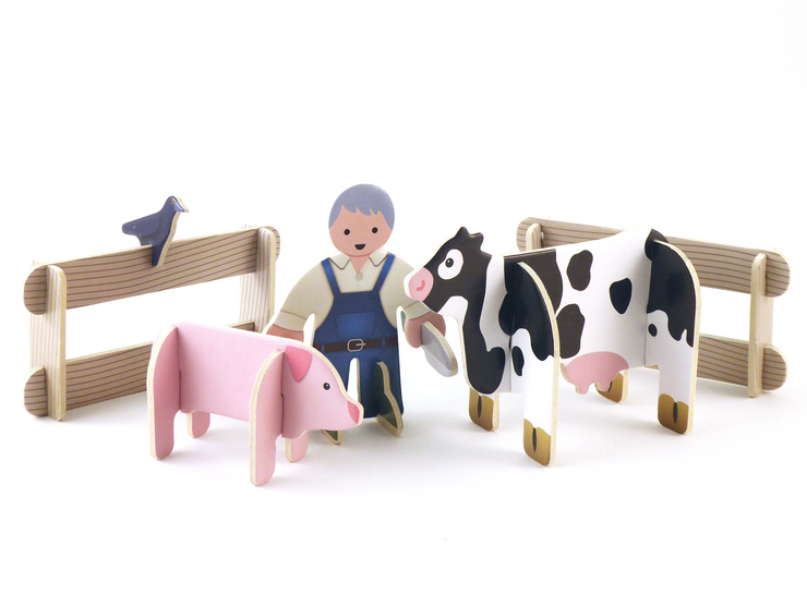 pressplay toys build play set farmyard