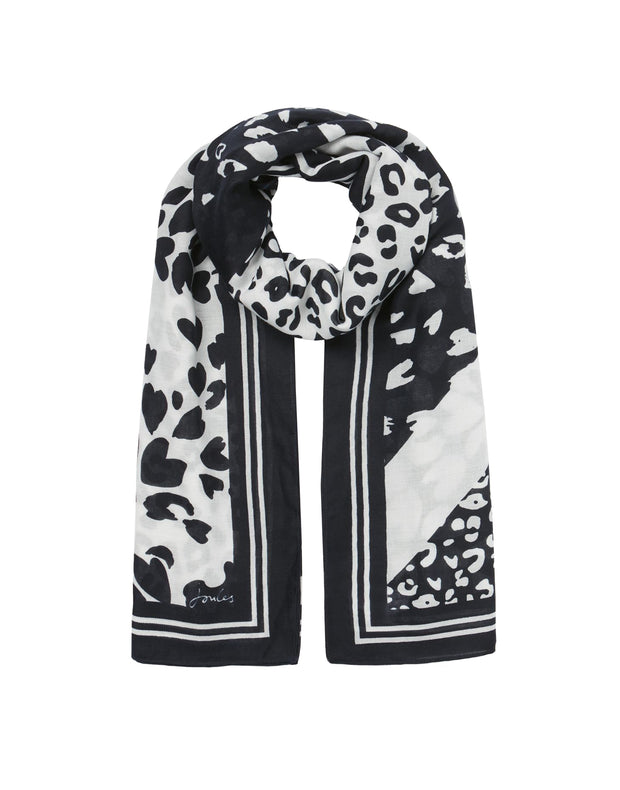 joules womens river printed scarf multi animal