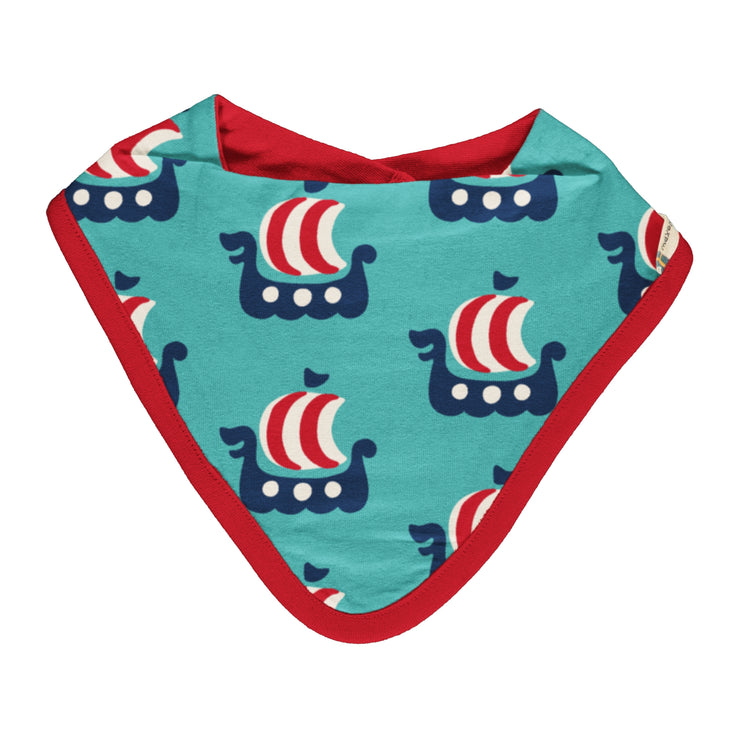 Maxomorra Baby Dribble Bib - Viking Ship