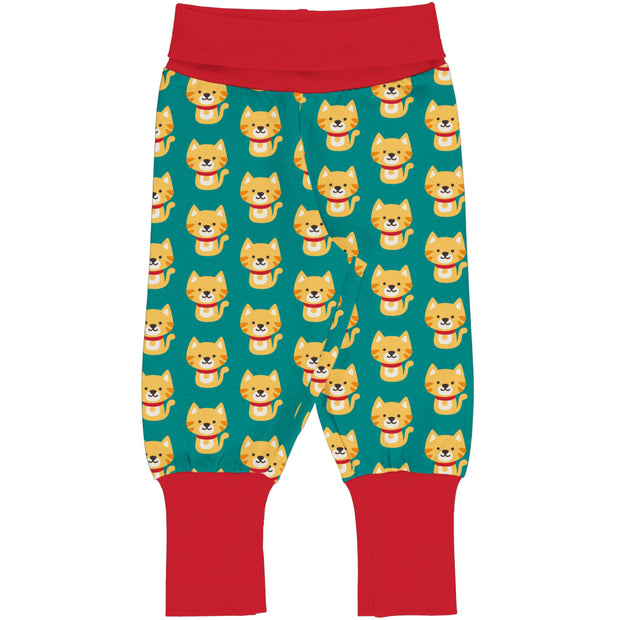 Maxomorra Rib Pants - Cat
