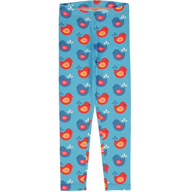 maxomorra leggings bright birds
