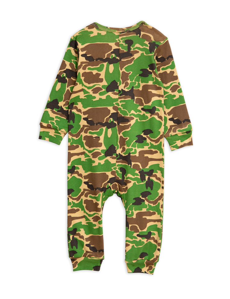 mini rodini camo jumpsuit green