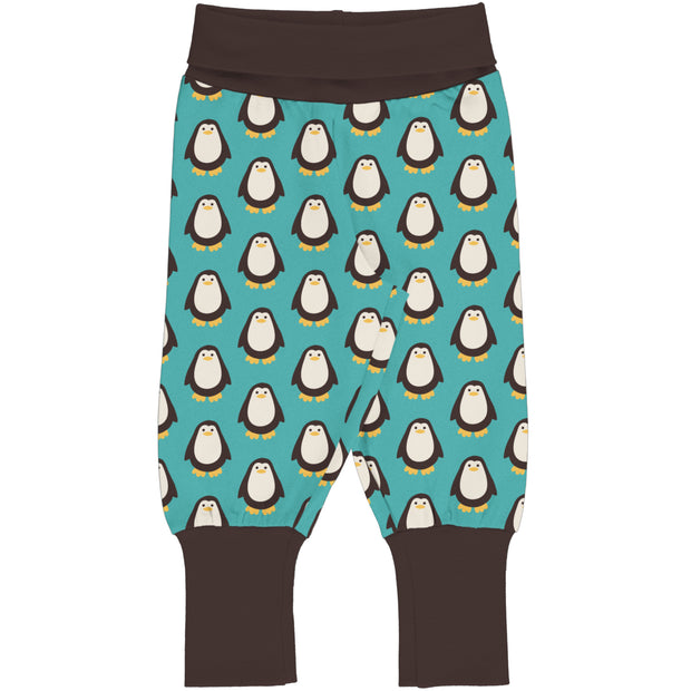Maxomorra Rib Pants - Penguin