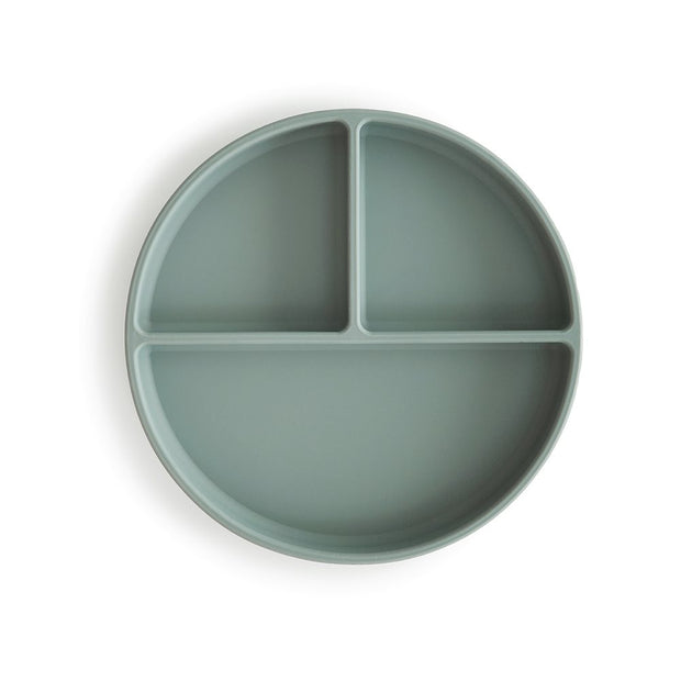 Mushie Silicone Plate - Cambridge Blue
