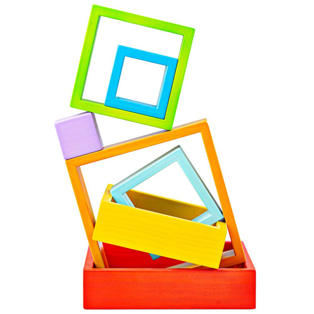 bigjigs toys wooden stacking squares
