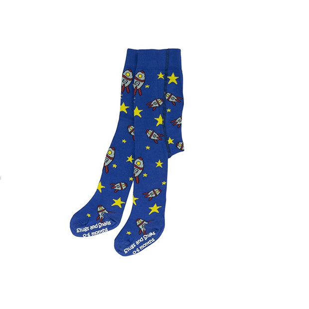 slugs snails unisex tights out of this world rockets