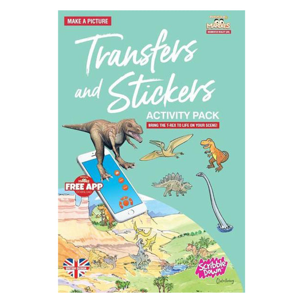scribble down activity transfers stickers pack land of the dinosaurs