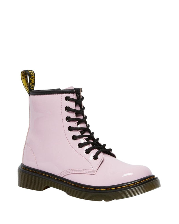 Dr. Martens Junior 1460 Patent Leather Ankle Boots - Pale Pink