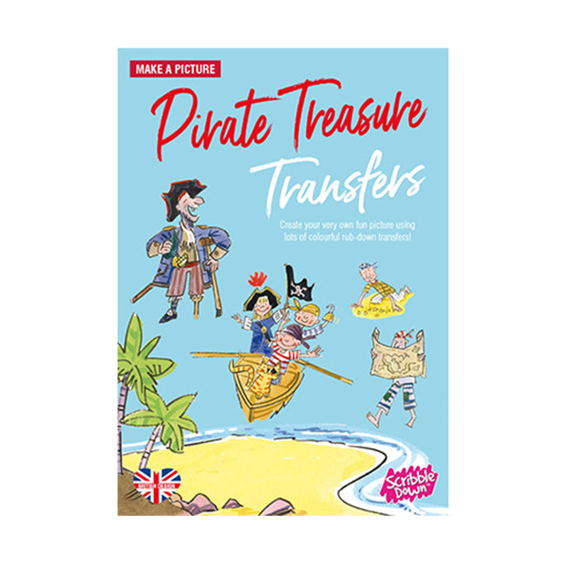scribble down activity transfer pack pirate treasure
