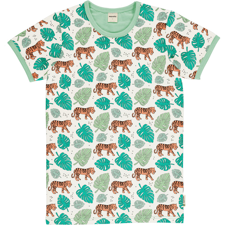meyadey mens short sleeve top tiger jungle
