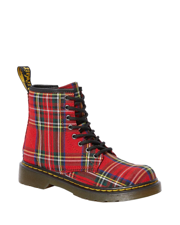 dr martens 1460 junior boot red tartan fabric