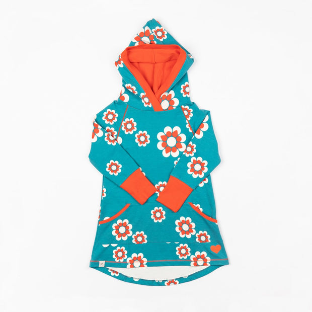 Alba of Denmark Lihn Hood Dress - Biscay Bay Flower Heaven