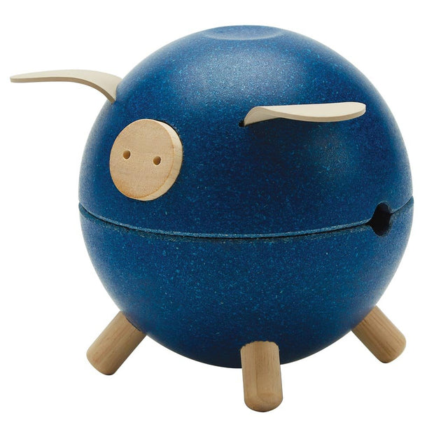 Plan Toys Piggy Bank - Blue