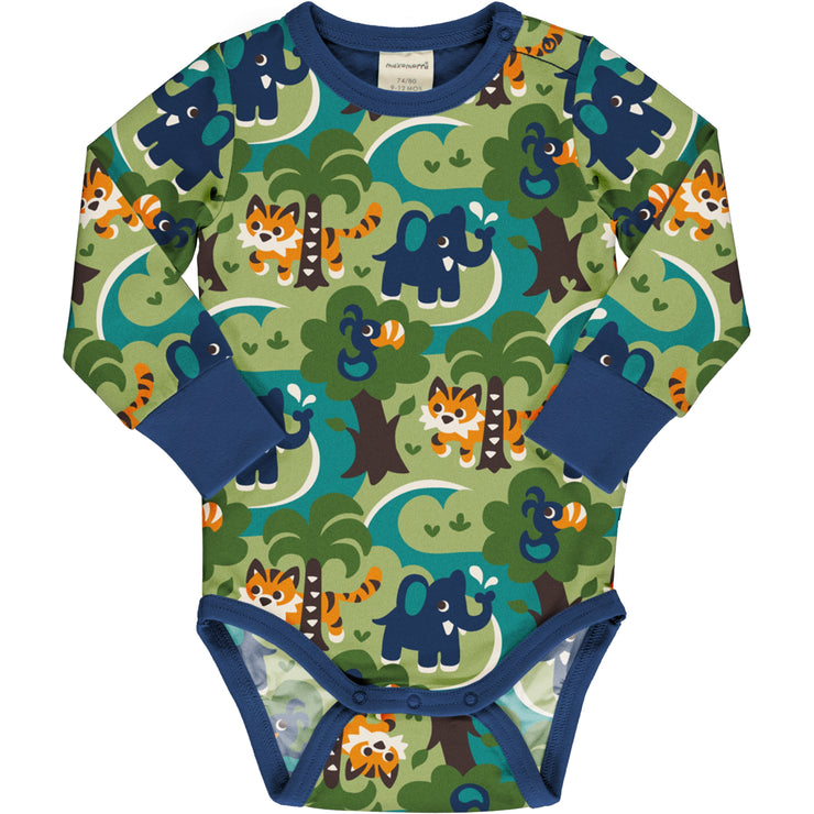 Maxomorra Long Sleeved Body Vest - Jungle