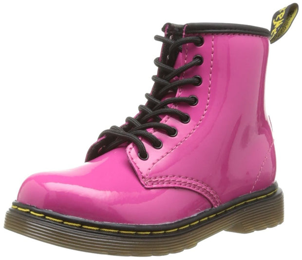 Dr. Martens 1460 Brooklee Toddler Boot - Hot Pink Patent Lamper