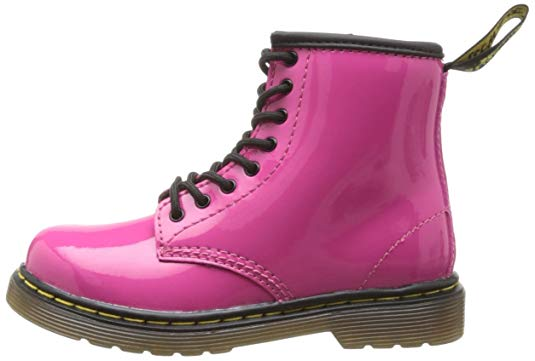 Dr. Martens 1460 Junior Delaney Boot - Hot Pink Patent Lamper