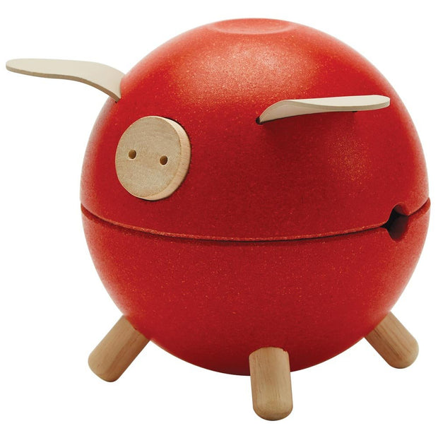 Plan Toys Piggy Bank - Red