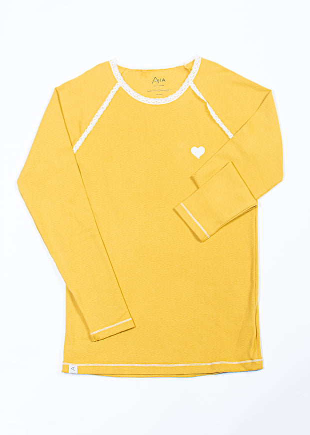 Alba Of Denmark - AIA My All Time Favourite Long Sleeve Adult Top - Bright Gold