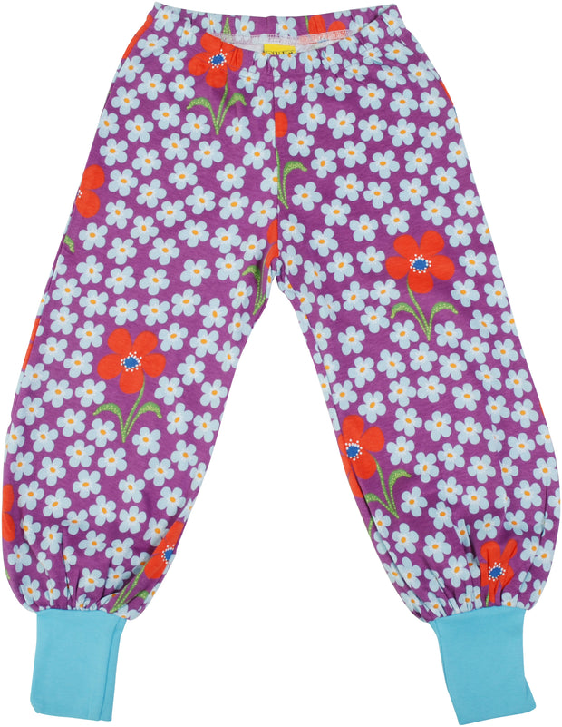 Duns Sweden Flower Baggy Pants - Amethyst