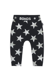 Bonds Stretchies Leggings Star Struck Black