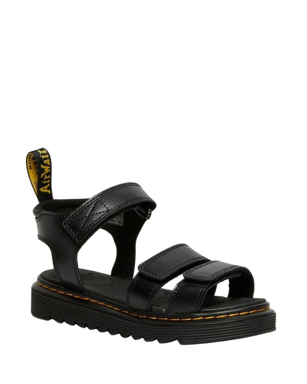 Dr. Martens Junior Klaire Leather Strap Sandals - Black T Lamper
