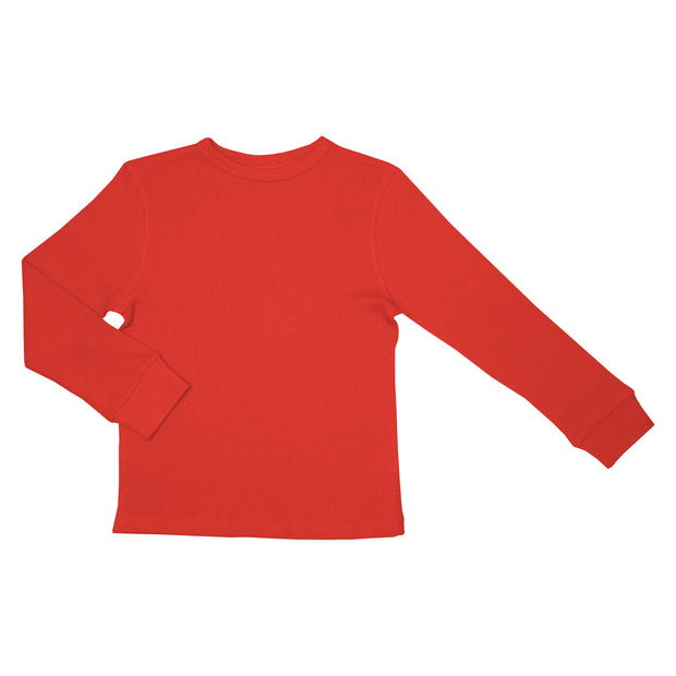 Slugs & Snails Waffle Top - Red