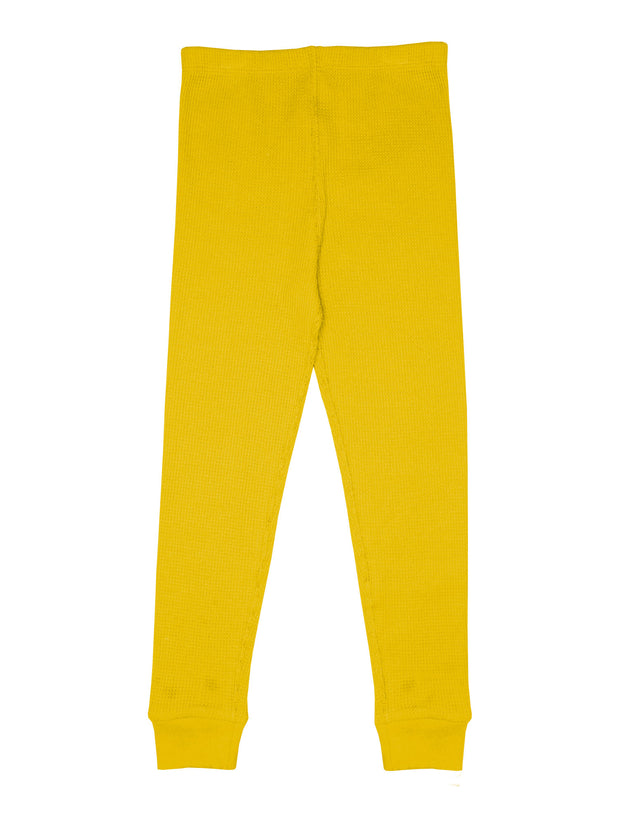 Slugs & Snails Waffle Leggings - Yellow
