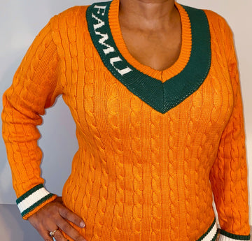 "FAMU ""Althea"" V-Neck Sweater"
