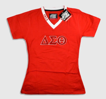 "Delta Sigma Theta ""LETTERS"" Red Tee"
