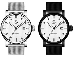 Watch Subscription Zew Box black and silver skyline watch